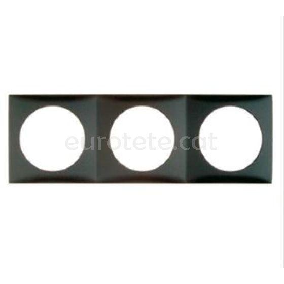 Berker marco triple gris antracita negro para interruptor electricidad