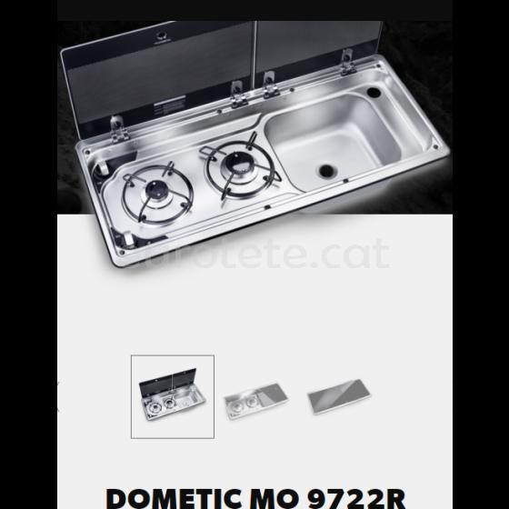 Cuina Dometic MO 9722R de 2 focs + aigüera dreta amb tapa 1