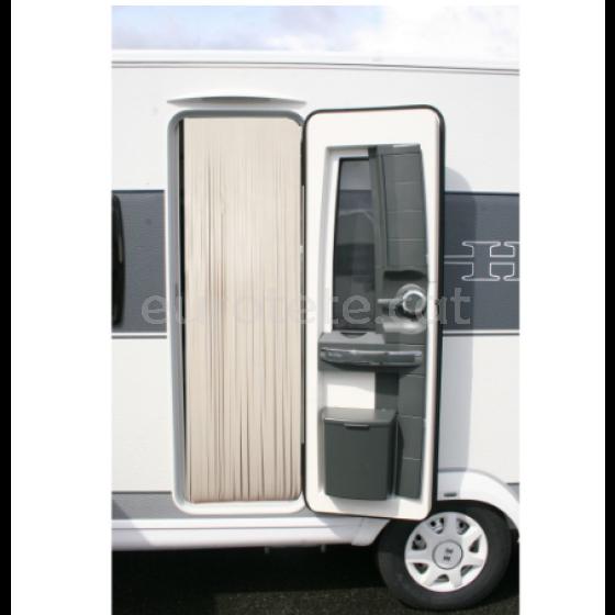 Cortina 60 x 200 cuir color crema - beig autocaravana 1