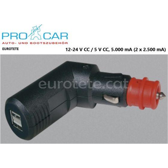 USB-endoll-de-càrrega-doble-alta-càrrega-connector articulat-pro-car-camper-telèfon-mòbil- smartphon-navegació-MP3-càmera fotogràfica